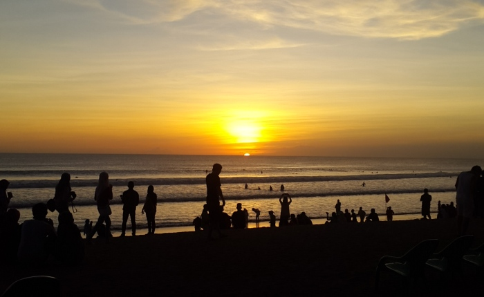 The Sunset is Beautiful. In Bali.